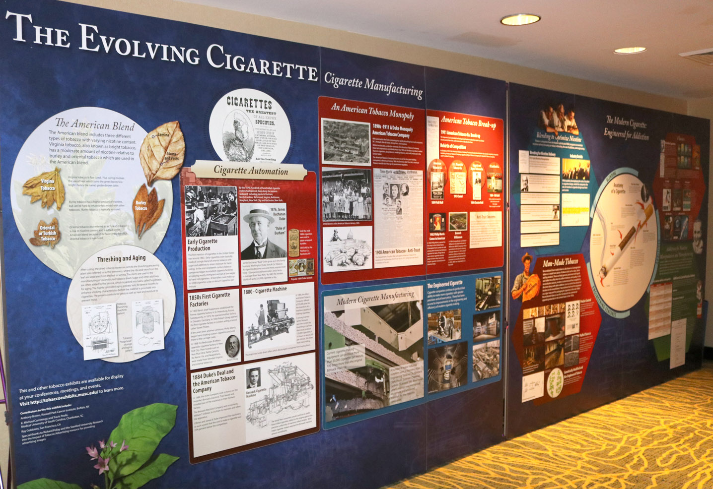 evolving cigarette exhibit