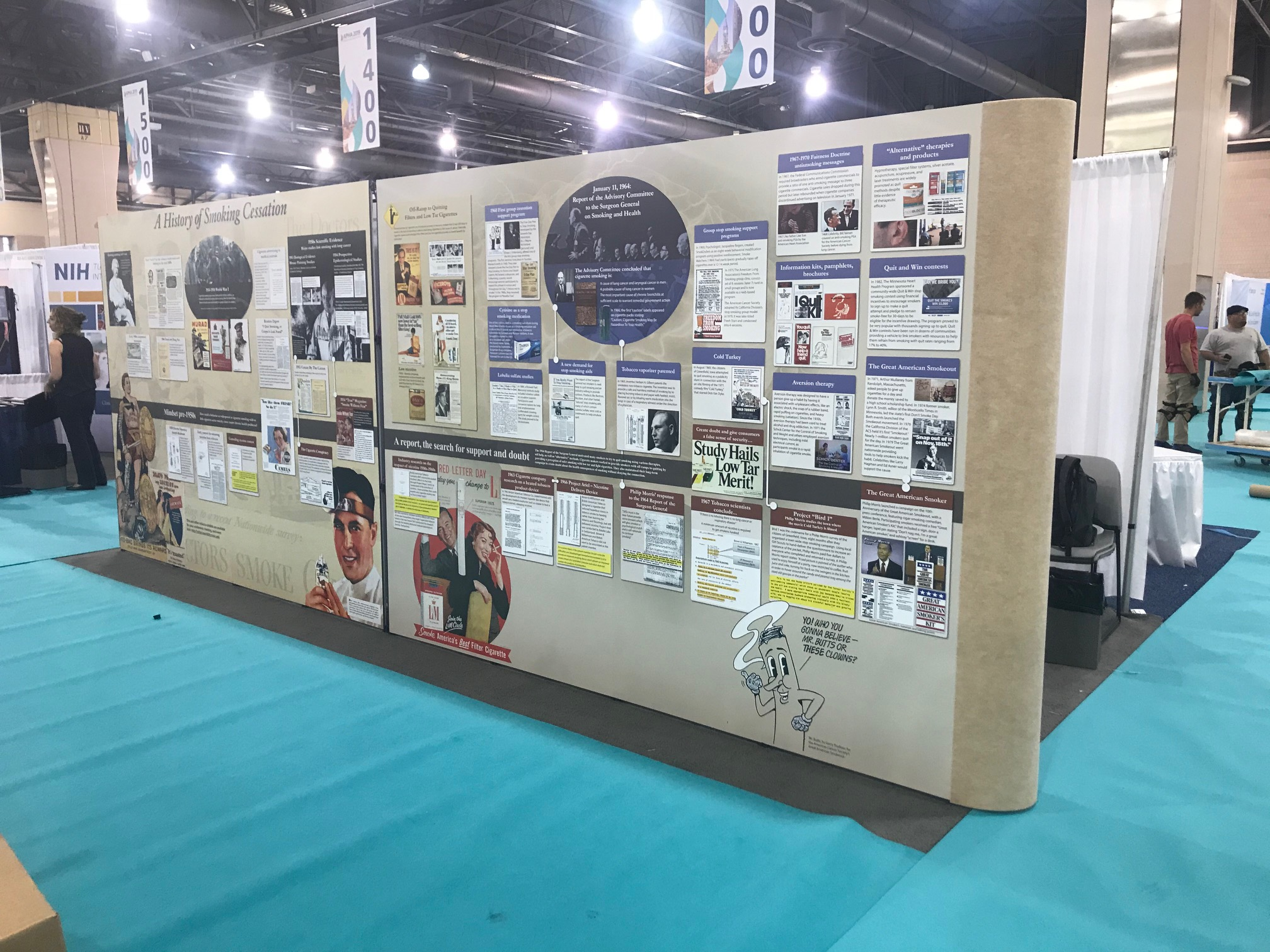 History of Smoking Cessation panels 1 and 2. Philadelphia, PA. Nov 2019