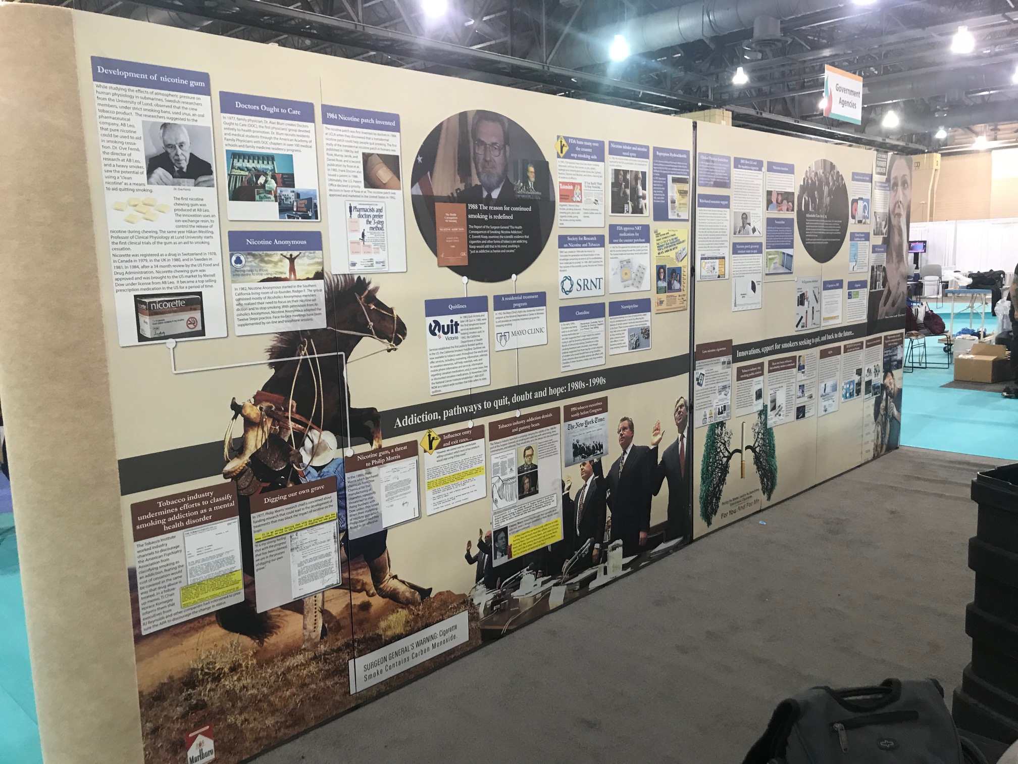 History of Smoking Cessation panels3 and 4. Philadelphia, PA. Nov 2019
